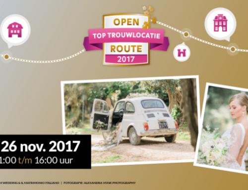 26 november – Open Top trouwlocatie Route