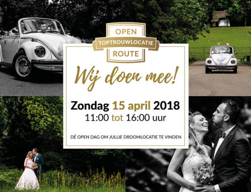 15 april | Open Top trouwlocatie Route
