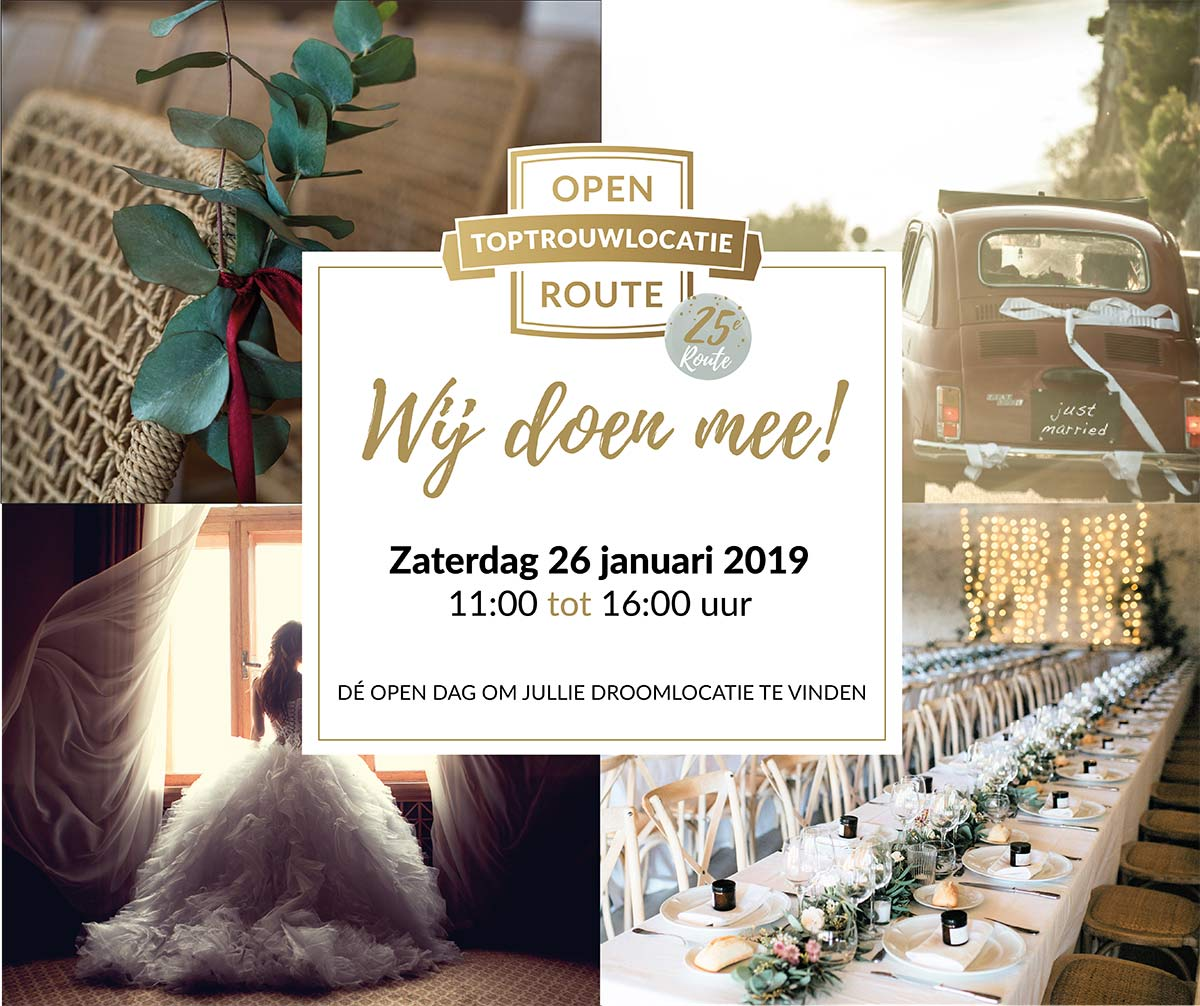 26 januari | Open Top trouwlocatie Route