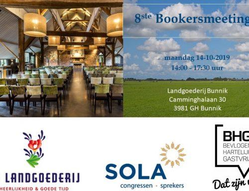 14 oktober de 8ste SOLA Bookersmeeting, meld u nu aan!