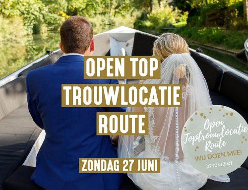 Open Toptrouwlocatie Route 27 juni